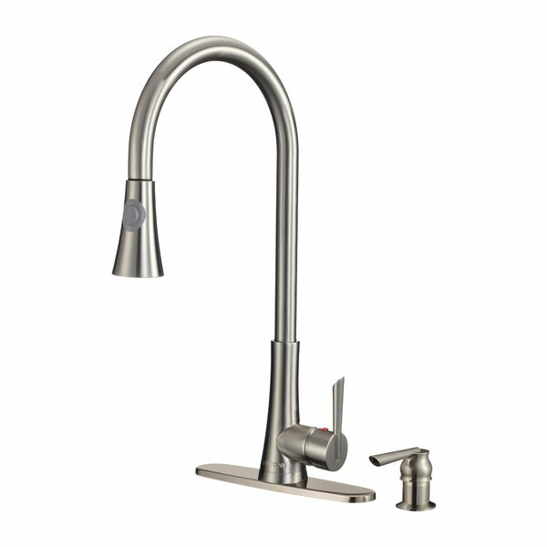 Celtic Pull Out Single Handle Kitchen Faucet and Soap Dispenser by Dyconn Faucet