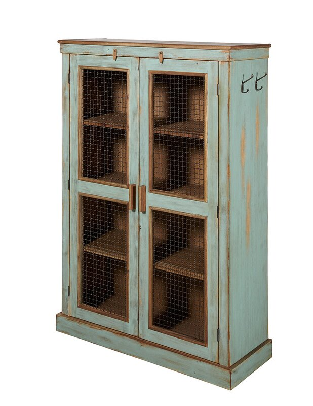 Charlie Vintage Vertical Farmhouse 2 Door Cabinet