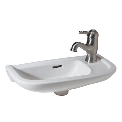 Linea Hand Rinse Ceramic 20 Wall Mount Bathroom Sink with Overflow by Rohl