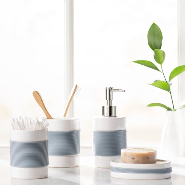 Hardy 4-Piece Bathroom Accessory Set by The Twillery Co.