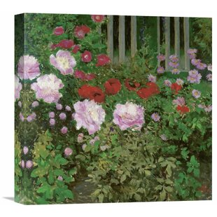 Charmant U0027Flowers And Garden Fenceu0027 By Koloman Moser Painting Print On Wrapped Canvas
