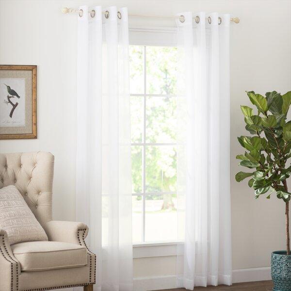 Wayfair Basics Solid Sheer Grommet Single Curtain Panel by Wayfair Basics™