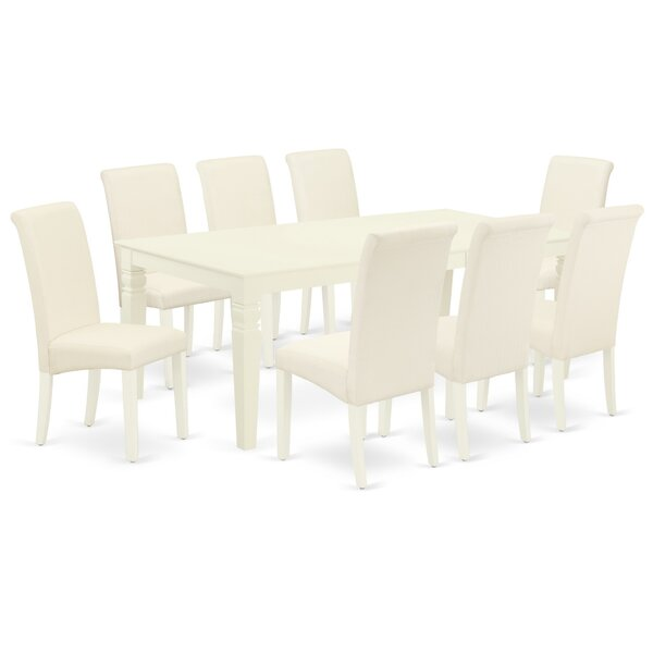 Dexmoor 9 Piece Extendable Solid Wood Dining Set by Winston Porter Winston Porter