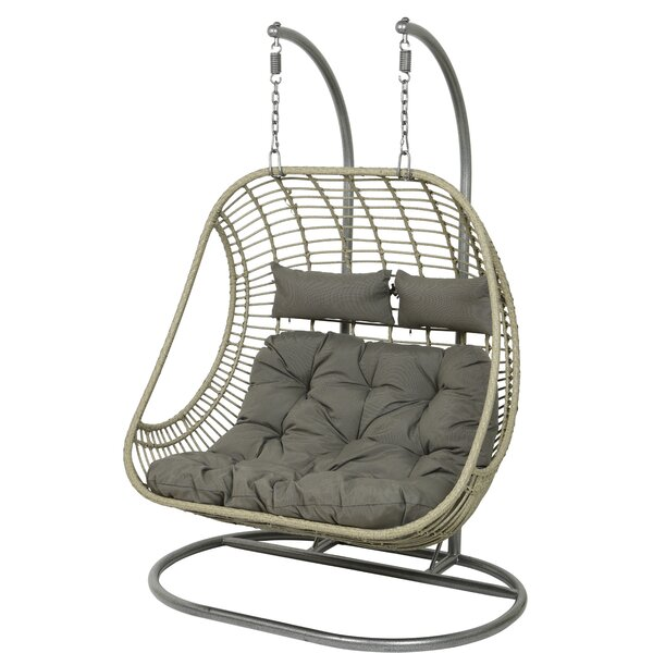 Tania 2 Seat Double Hanging Swing Chair with Stand by Bayou Breeze