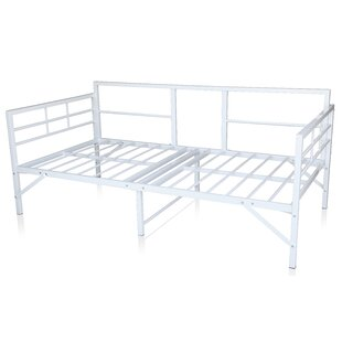 Zella Easy Set Up Metal Twin Daybed Frame
