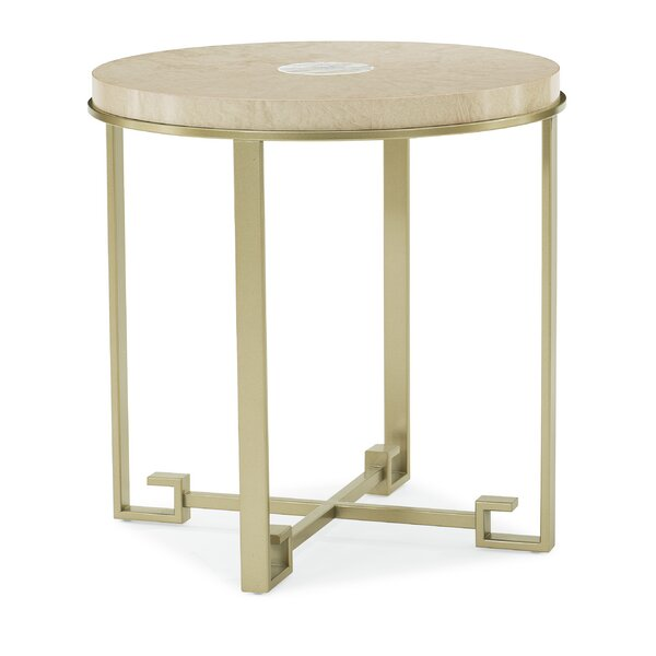 Shell Eye Cross Legs End Table by Caracole Classic Caracole Classic