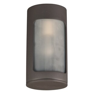 Compare prices Louth 1-Light Outdoor Flush Mount By Ebern Designs