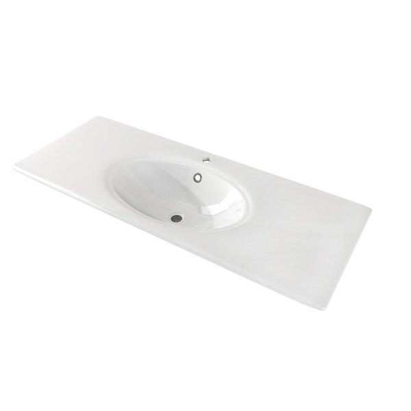 Hawgood Ceramic Oval Drop-In Bathroom Sink with Overflow