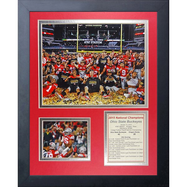 Legends Never Die Ohio State 2014 CFP Football National Champion Celebration Framed Memorabilia by Legends Never Die
