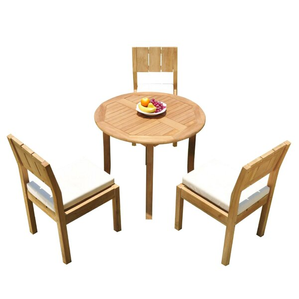 Elian 4 Piece Teak Dining Set by Rosecliff Heights