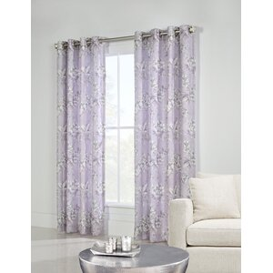 Gatto Nature/Floral Semi-Sheer Grommet Thermal Single Curtain Panel