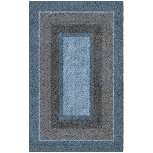 Noah Braided Printed Blue/Brown Area Rug by Winston Porter