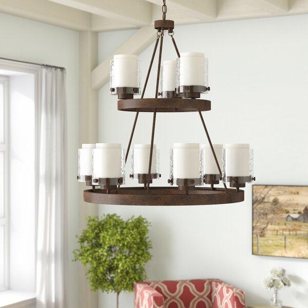 Vidette 9-Light Shaded Chandelier by Laurel Foundry Modern Farmhouse