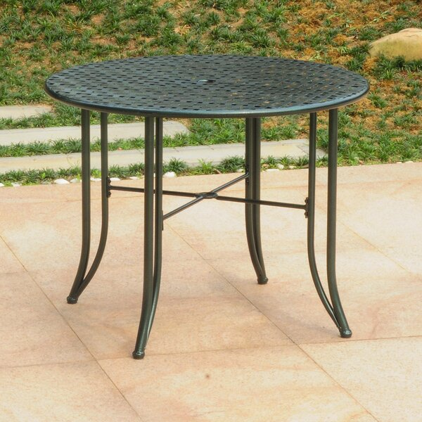 Doric Iron 39 Round Patio Dining Table by Darby Home Co