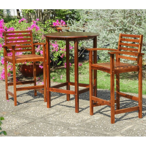 Enright 3 Piece Bar Height Dining Set by Breakwater Bay