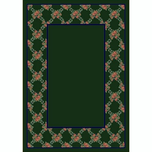 Design Center Emerald Rose Bower Area Rug by Milliken