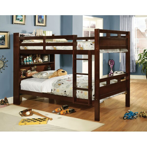SeaRidge Twin Bunk Bed with Bookcase by Hokku Designs