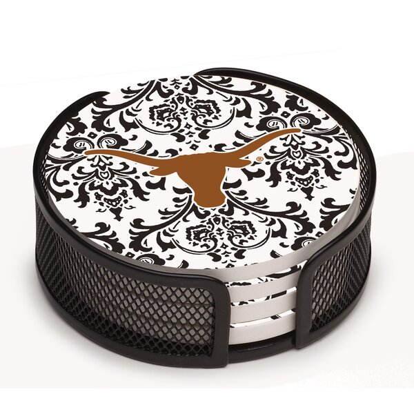 5 Piece University of Texas Collegiate Coaster Gift Set by Thirstystone
