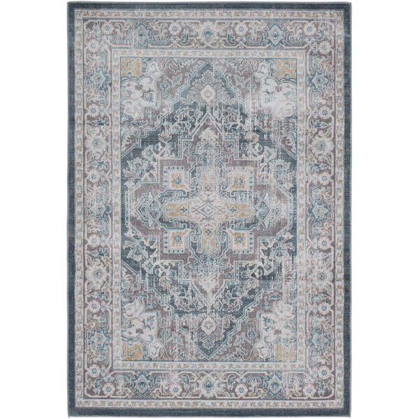 Reitz Gray/Blue Area Rug by World Menagerie