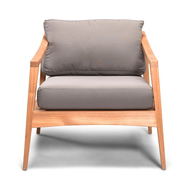 Hogue Teak with Sunbrella Cushions by Rosecliff Heights