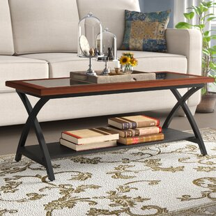Jeannine Coffee Table with Magazine Rack by Winston Porter