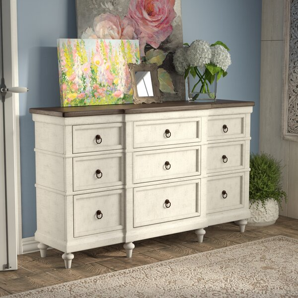 Ornithogale 9 Drawer Double Dresser by Lark Manor