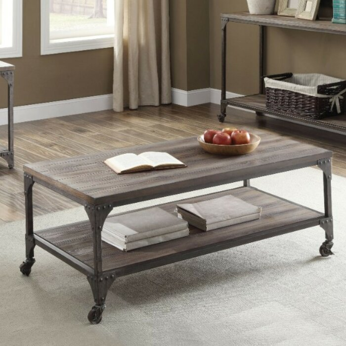 Excellent Camas Industrial Rectangular Wood And Metal Coffee Table Ocoug Best Dining Table And Chair Ideas Images Ocougorg