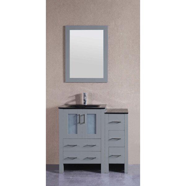 36 Single Bathroom Vanity Set with Mirror by Bosconi36 Single Bathroom Vanity Set with Mirror by Bosconi
