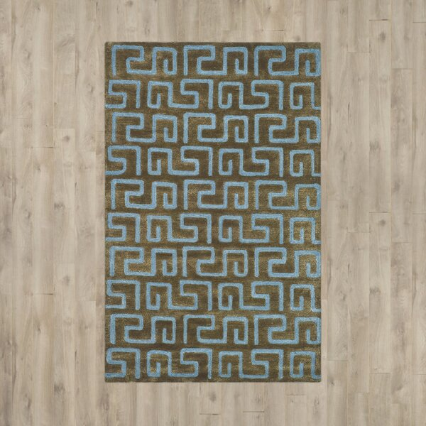 Armstrong Hand-Tufted Brown Area Rug by Winston Porter