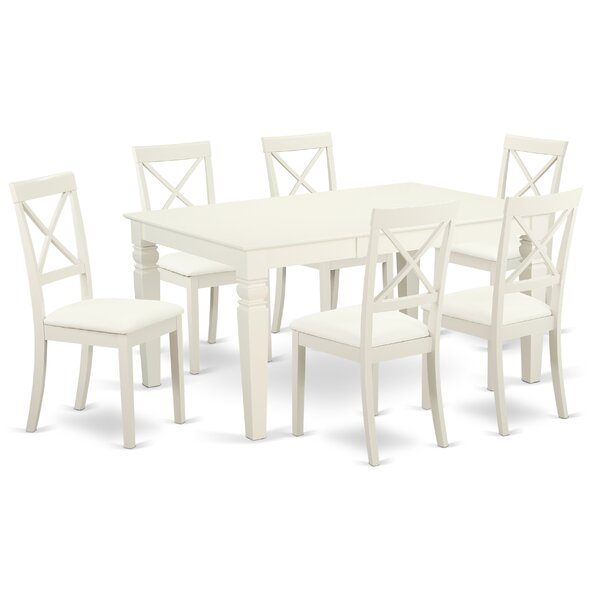 Beesley 7 Piece Solid Wood Dining Set by Darby Home Co