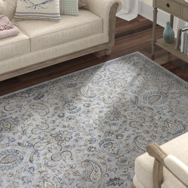 Benoit Silver/Blue Area Rug by Lark Manor