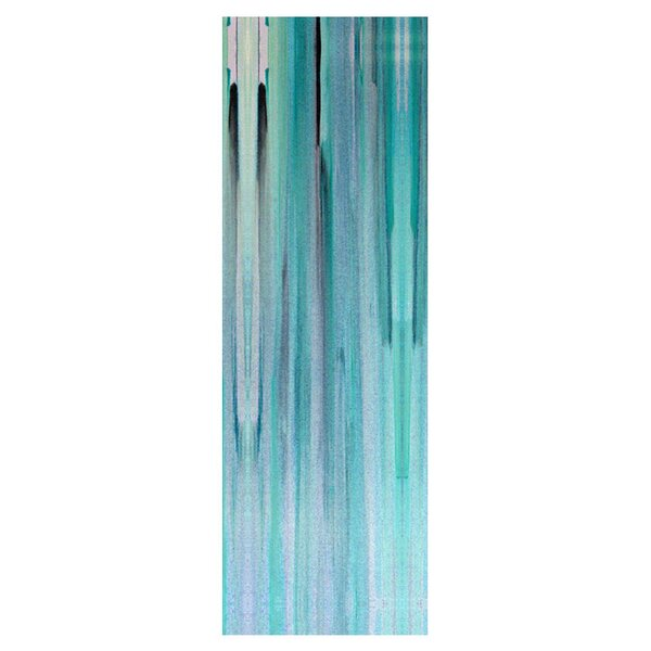 Abstract Blue Print of Painting on Wrapped Canvas by PTM