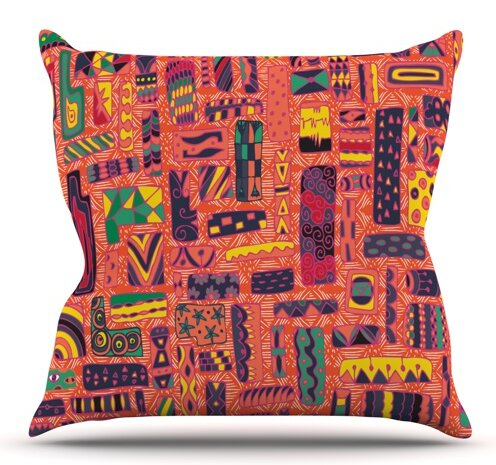 Squares by Akwaflorell Outdoor Throw Pillow by East Urban Home