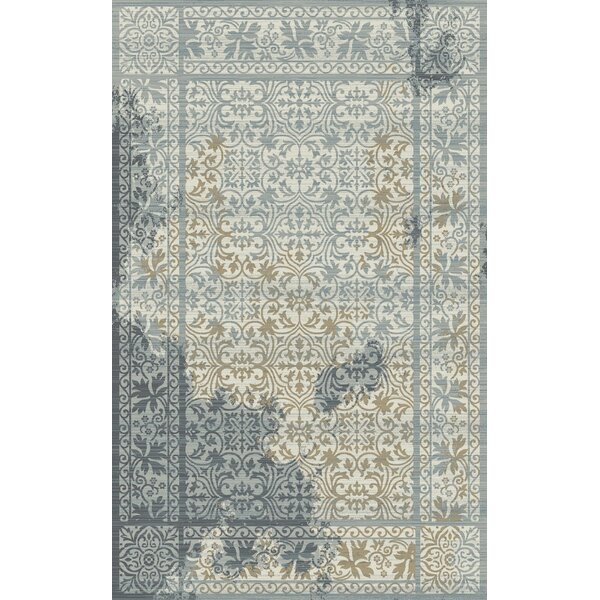 Lower West Side Gray/Blue Area Rug by Winston Porter