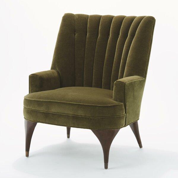 Buy Sale Duncan Velvet Wingback Chair