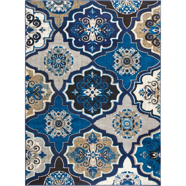 Albion Blue/Beige Area Rug by Winston Porter