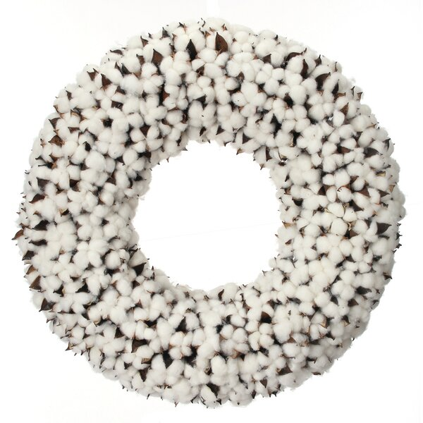 Ball 22 Cotton Wreath by The Holiday Aisle