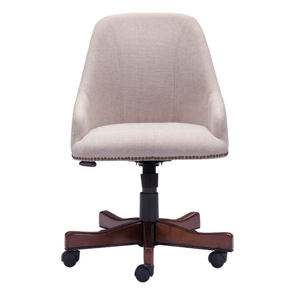 Farmland Mid-Back Desk Chair by Three Posts