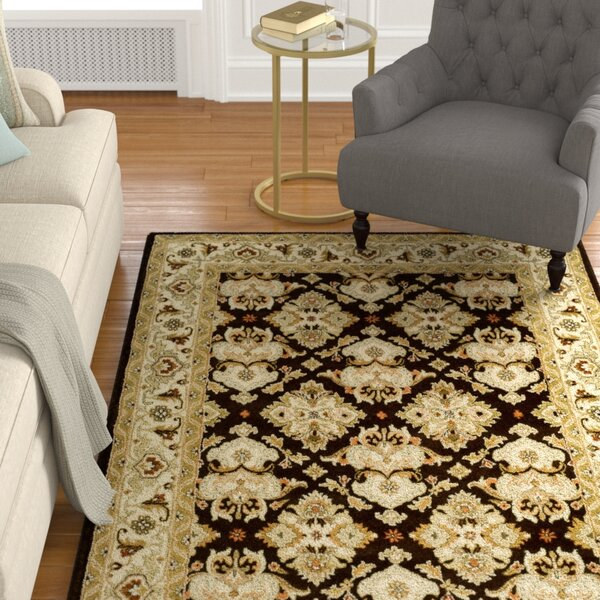 Balthrop Espresso/Ivory Area Rug by Astoria Grand