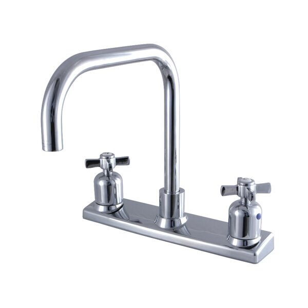 Millennium Pull Down Double Handle Kitchen Faucet by Kingston Brass