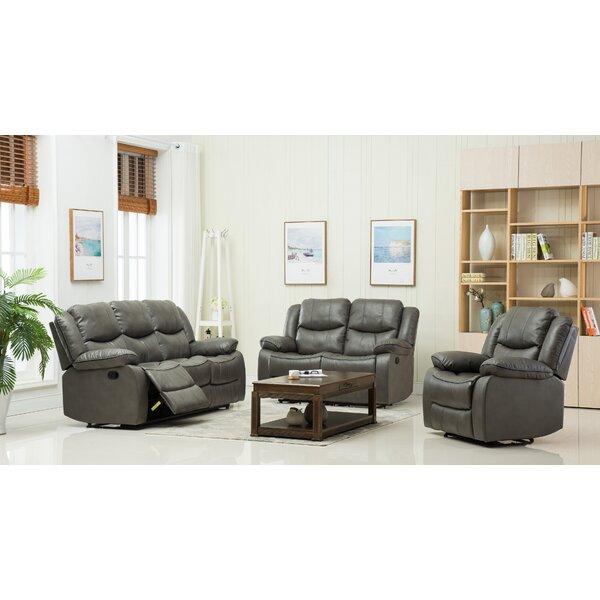 Review Shreyas 3 Piece Reclining Living Room Set