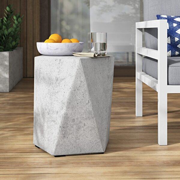 Valenti Stone/Concrete Side Table by Mercury Row