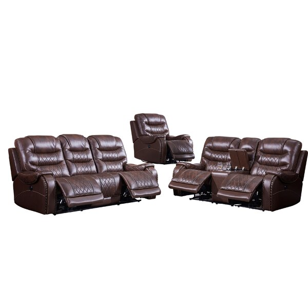 Cordon 3 Piece Reclining Living Room Set by Darby Home Co