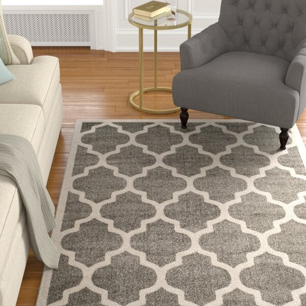 Carman Power Loomed Gray/Beige Indoor/Outdoor Area Rug by Charlton Home