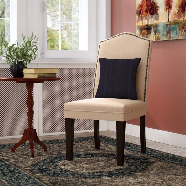 Io Parsons Linen Upholstered Dining Chair In Light Brown (Set Of 2) By Willa Arlo Interiors