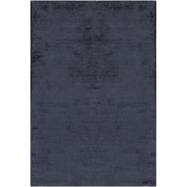 Blosser Hand-Loomed Navy Blue Area Rug by Wrought Studio