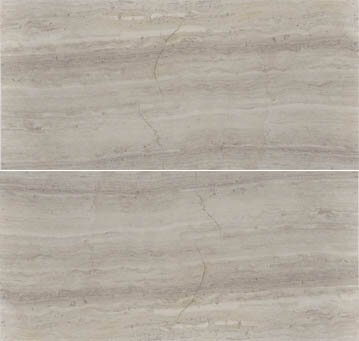 Cerro Hudson 6 x 12 Marble Wood Look/Field Tile in Gray by The Bella Collection