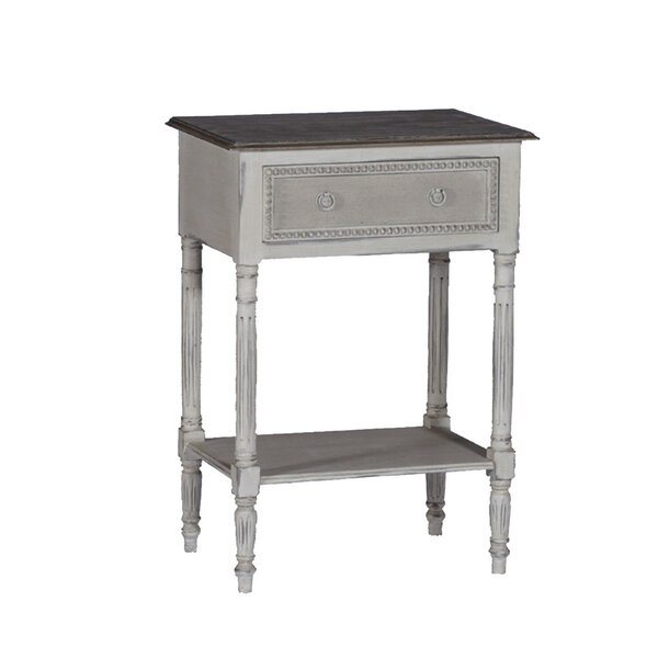 Carine End Table With Storage By Gabby
