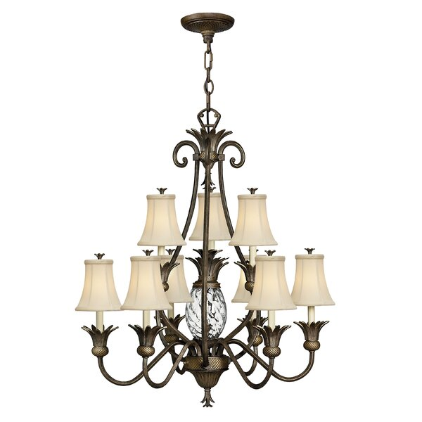 10 - Light Shaded Classic / Traditional Chandelier By Dovecove