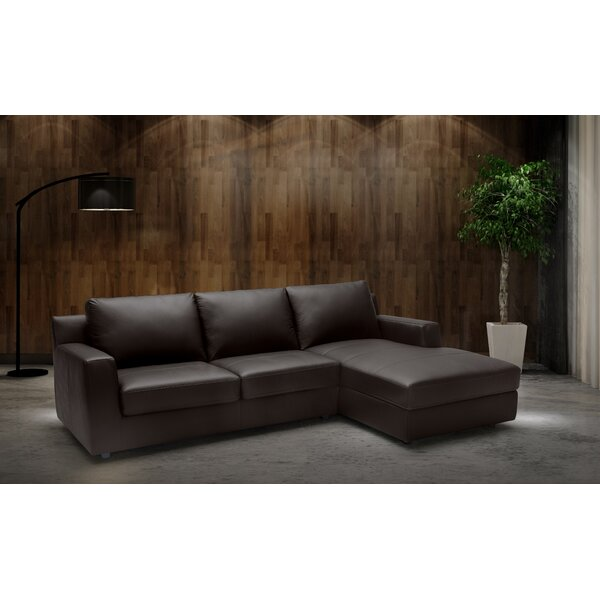 Blandon Leather Sleeper Sectional By Brayden Studio
